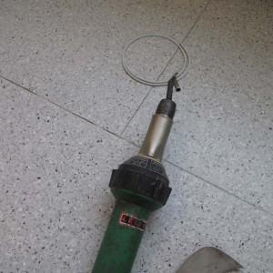 Укладка токопроводящего линолеума.